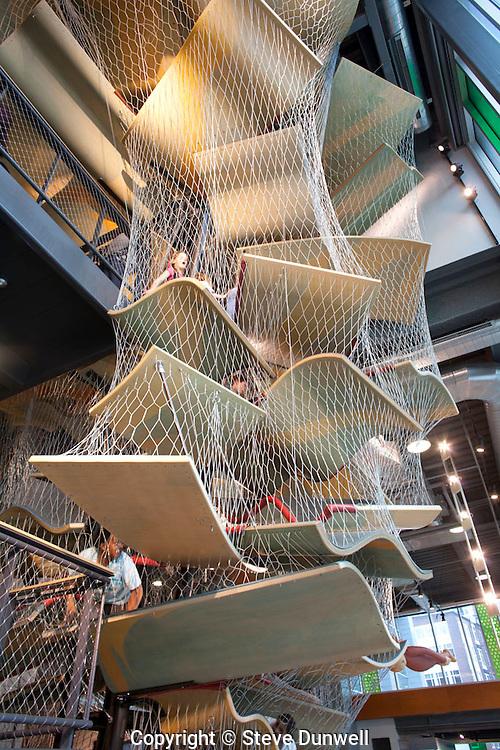 Children's Museum, Boston, MA (Cambridge 7 = architect) climbing structure = Spenser Luckey