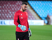 Lincoln City's Grant Smith during the pre-match warm-up<br /> <br /> Photographer Andrew Vaughan/CameraSport<br /> <br /> The EFL Checkatrade Trophy Northern Group H - Scunthorpe United v Lincoln City - Tuesday 9th October 2018 - Glanford Park - Scunthorpe<br />  <br /> World Copyright &copy; 2018 CameraSport. All rights reserved. 43 Linden Ave. Countesthorpe. Leicester. England. LE8 5PG - Tel: +44 (0) 116 277 4147 - admin@camerasport.com - www.camerasport.com