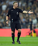 Referee Jonathan Moss during the premier league match at the Wembley Stadium, London. Picture date 14th April 2018. Picture credit should read: Robin Parker/Sportimage