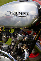 Old Trihumph bike logo