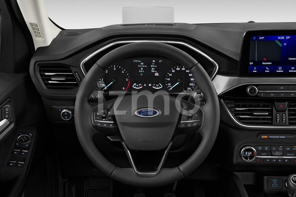 Car pictures of steering wheel view of a 2020 Ford Kuga Titanium 5 Door SUV Steering Wheel