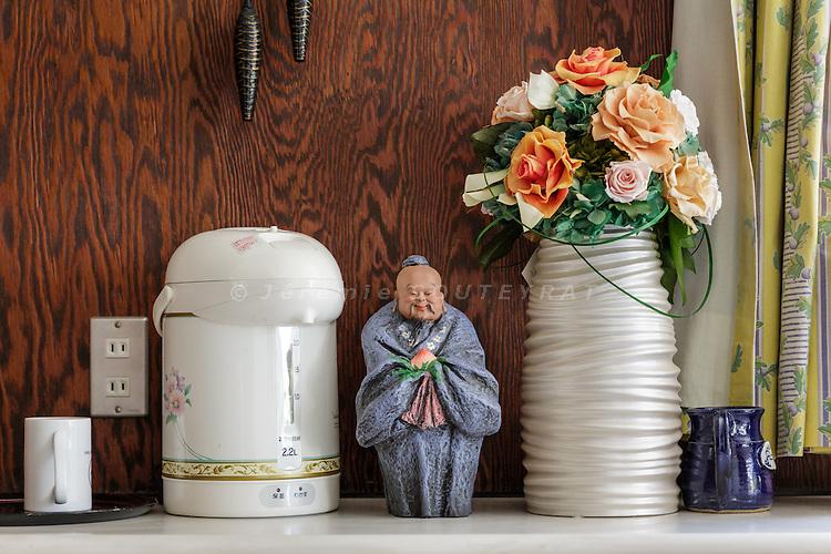 Tokyo, Japan, June 3 2016 - In the kitchen of former Prime Minister Yukio Hatoyama's residence.