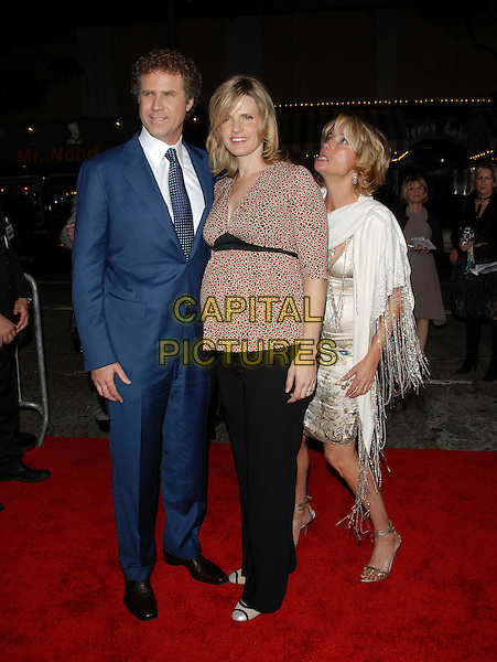 "WILL FERRELL, VIVECA PAULIN & EMMA THOMPSON.The Columbia Pictures' World Premiere of ""Stranger than Fiction"" held at The Mann Village Theatre in Westwood, California on October 30, 2006.Copyright 2006 Debbie VanStory.Ref: DVS.full length blue suit black trousers pink top married husband wife funny face white dress shawl wrap pashmina.www.capitalpictures.com.sales@capitalpictures.com.©Debbie VanStory/Capital Pictures"