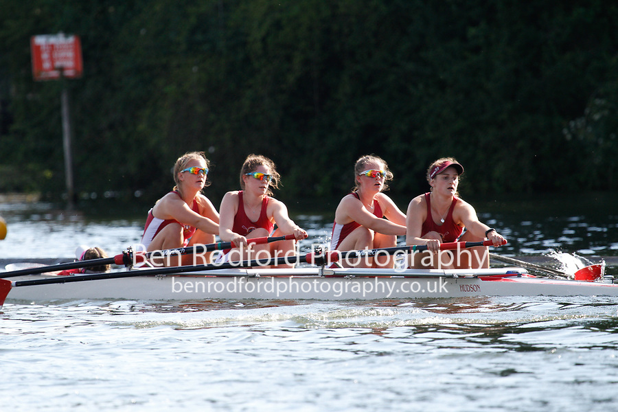 Race: 214 J4+ Quarter-Final - Merion Mercy Acad (USA) vs Marlow RC<br /> <br /> Henley Women's Regatta 2017<br /> <br /> To purchase this photo, or to see pricing information for Prints and Downloads, click the blue 'Add to Cart' button at the top-right of the page.
