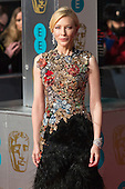 London, UK. 14 February 2016. Actress Cate Blanchett. Red carpet arrivals for the 69th EE British Academy Film Awards, BAFTAs, at the Royal Opera House. © Vibrant Pictures/Alamy Live News