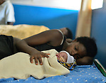 A mother and her newborn in the neonatal department at Kibuye Hospital, Karongi District, Western Rwanda