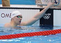 Olympia 2012 London   Aquatics Centre  28.07.2012 Paul Biedermann (GER) nach seinem Vorlauf ueber 400 Meter Freistil