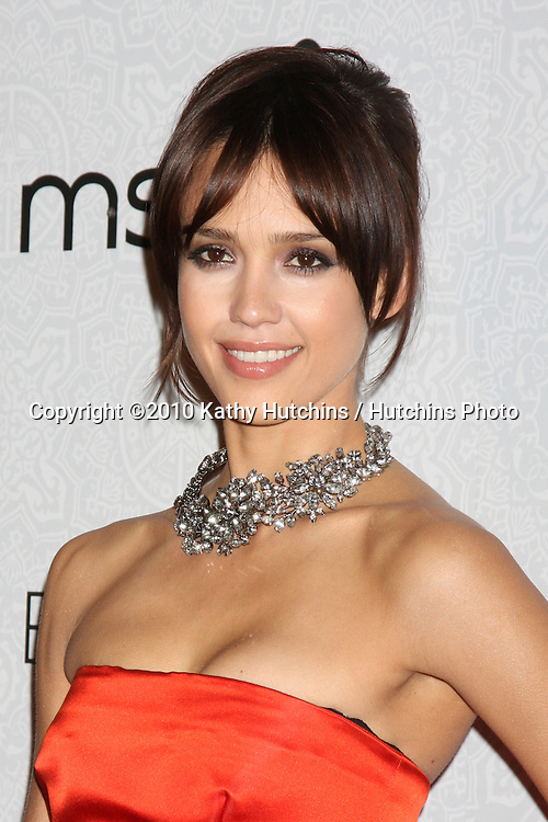 Jessica Alba.arriving at the 3rd Annual Art of Elysium Gala.Rooftop of Parking Garage across from Beverly Hilton Hotel.Beverly Hills, CA.January 16, 2010.©2010 Kathy Hutchins / Hutchins Photo....