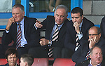 Charles Green pointing out the action on the pitch to Andrew Dickson