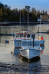 Boats in Prospect Harbor, Gouldsboro, Maine, USA