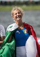 Rotterdam. Netherlands.  ITA JW1X. gold medalist, Clara GUERRA, {WRCH2016}  at the Willem-Alexander Baan.   Sunday  28/08/2016 <br /> <br /> [Mandatory Credit; Peter SPURRIER/Intersport Images]