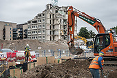 Partly demolshed  Gloucester House, and ground works for new homes, South Kilburn Estate, London Borough of Brent, .