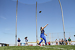 FARGO, ND - MAY 13: Kassie Vollmer from South Dakota State University throws the discus during the finals Saturday at the 2017 Summit League Outdoor Track Championship at the Ellig Sports Complex in Fargo, ND. (Photo by Dave Eggen/Inertia)