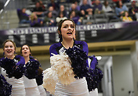 Fayetteville cheerleaders cheer during a basketball game, Friday, January 10, 2020 at Fayetteville High School in Fayetteville. Check out nwaonline.com/200111Daily/ for today's photo gallery.<br /> (NWA Democrat-Gazette/Charlie Kaijo)