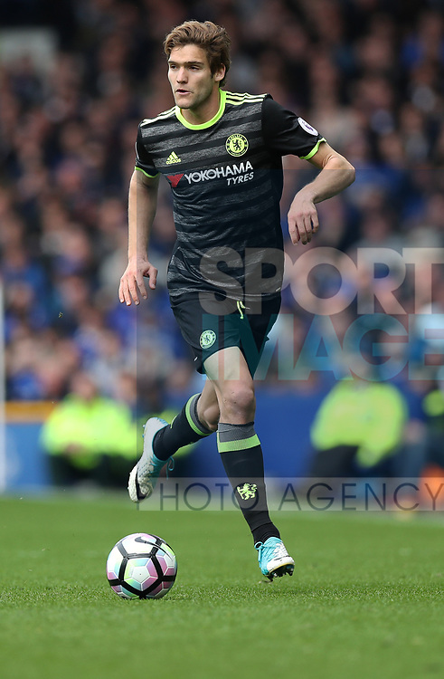 Marcos Alonso of Chelsea during the English Premier League match at Goodison Park , Liverpool. Picture date: April 30th, 2017. Photo credit should read: Lynne Cameron/Sportimage