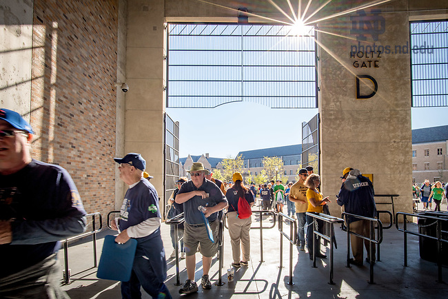 September 30, 2017; Notre Dame Stadium concourse on game day. (Photo by Matt Cashore/University of Notre Dame)