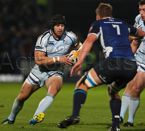 27.10.2012 Dublin, Ireland.James Down in action for Cardiff Blues, during the RaboDirect PRO12 game between Leinster and Cardiff Blues from the Royal Dublin Society.