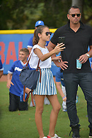 MIAMI, FL - JULY 11: Alex Rodriguez (A-Rod) (R) and daughter Ella Alexander attend the All-Star Week Legacy Project with A-Rod & Giancarlo Stanton at Boys & Girls Clubs of Miami-Dade on July 11, 2017 in Miami, Florida. Credit: MPI10 / MediaPunch