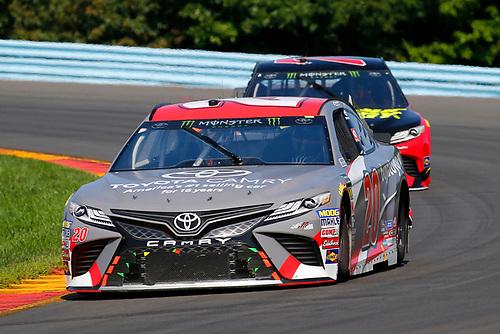 #20: Erik Jones, Joe Gibbs Racing, Toyota Camry buyatoyota.com and #78: Martin Truex Jr., Furniture Row Racing, Toyota Camry 5-hour ENERGY/Bass Pro Shops
