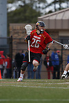 2013 March 02: John Haus #26 of the Maryland Terrapins during a game against the Duke Blue Devils at Koskinen Stadium in Durham, NC.  Maryland won 16-7.