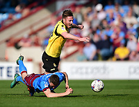 Bolton Wanderers' James Henry is fouled by Scunthorpe United's Murray Wallace<br /> <br /> Photographer Chris Vaughan/CameraSport<br /> <br /> The EFL Sky Bet League One - Scunthorpe United v Bolton Wanderers - Saturday 8th April 2017 - Glanford Park - Scunthorpe<br /> <br /> World Copyright &copy; 2017 CameraSport. All rights reserved. 43 Linden Ave. Countesthorpe. Leicester. England. LE8 5PG - Tel: +44 (0) 116 277 4147 - admin@camerasport.com - www.camerasport.com