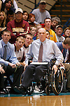 SIOUX FALLS, SD - May 18, 2014 -- LEGENDARY BASKETBALL COACH DON MEYER PASSED AWAY in his home in Aberdeen, S.D. Sunday May 18, 2014 -- FOLLOWING ARE CAPTIONS AND IMAGES FROM 2008 --  Northern State University (SD) head men's basketball coach Don Meyer works the sidelines during a game against the University of Minnesota - Duluth  November 29, 2008 in Sioux Falls. Meyer is poised to break the all-time NCAA win record held by the legendary Bob Knight (902) as they resume Northern Sun Intercollegiate Conference play with road games at Winona State and Upper Iowa on Friday and Saturday, respectively. NSU returns home on Jan. 10 for a televised match-up against the University of Mary. Meyer heads into the weekend with 901 wins. (Photo by Dick Carlson/Inertia)
