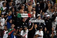 BOGOTÁ-COLOMBIA, 24-03-2019: Hinchas de Once Caldas, animan a su equipo, durante partido de la fecha 11 entre Independiente Santa Fe y Once Caldas, por la Liga Águila I 2019, en el estadio Nemesio Camacho El Campin de la ciudad de Bogotá. / Fans of Once Caldas, cheer for their team during a match of the 11th date between Independiente Santa Fe and Once Caldas, for the Aguila Leguaje I 2019 at the Nemesio Camacho El Campin Stadium in Bogota city, Photo: VizzorImage / Luis Ramírez / Staff.
