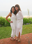 "CBS 2 News Reporter Hazel Sanchez and Hazel Sanchez and Flavie B. attend ""Beach Glamour in the Hamptons, A Benefit Party for the RFL Museum"" at the Reginald F. Lewis Estate in East Hampton, New York, 6/26/10"