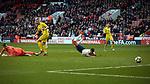 Dominic Calvert-Lewin scores for England, England U-21 v Ukraine U-21, Sheffield, United Kingdom, 27th March 2018. Photo by Glenn Ashley.