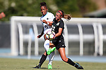 21 August 2016: North Carolina's Maya Worth (5) and Charlotte's Sophie Sipprell (22). The University of North Carolina Tar Heels hosted the University of North Carolina Charlotte 49ers in a 2016 NCAA Division I Women's Soccer match. UNC won the game 3-0