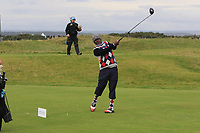 Moss Ngoasheng playing with Jordan Smith (ENG) on the 15th tee during Round 4 of the Alfred Dunhill Links Championship 2019 at St. Andrews Golf CLub, Fife, Scotland. 29/09/2019.<br /> Picture Thos Caffrey / Golffile.ie<br /> <br /> All photo usage must carry mandatory copyright credit (© Golffile | Thos Caffrey)