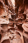 Little Wild Horse is a narrow slot canyon on the eastern edge of the San Rafael Swell in south central Utah. Crack Canyon BLM Wilderness Study Area