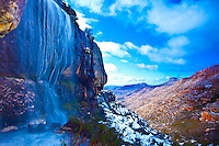 Melting snow high in the Cederberg Ranges.Cederberg  Wilderness,  South Africa.Western Cape Region