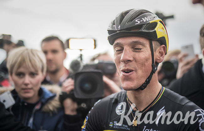 A happy race winner Philippe Gilbert (BEL/Quick Step floors) after his 4th Amstel win<br /> <br /> 52nd Amstel Gold Race (1.UWT)<br /> 1 Day Race: Maastricht &rsaquo; Berg en Terblijt (264km)