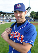July 28, 2003:  Mike Galloway (9) of the Auburn Doubledays, Class-A affiliate of the Toronto Blue Jays, during a game at Dwyer Stadium in Batavia, NY.  Photo by:  Mike Janes/Four Seam Images