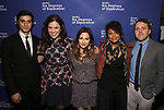 Gideon Glick, Lindsay Mendez, Sas Goldberg, Rebecca Naomi Jones, and Joshua Harmon attends the Opening Night Performance of 'Six Degrees Of Separation' at the Barrymore Theatre on April 25, 2017 in New York City.
