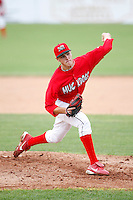 July 1, 2009:  Pitcher Kevin Siegrist of the Batavia Muckdogs delivers a pitch during a game at Dwyer Stadium in Batavia, NY.  The Muckdogs are the NY-Penn League Short-Season Class-A affiliate of the St. Louis Cardinals.  Photo By Mike Janes/Four Seam Images