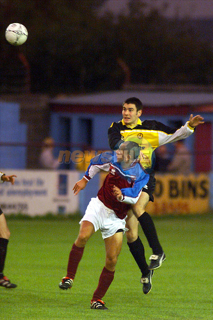 Action from Drogheda United's match against Kilkenny City in United park..Picture: Paul Mohan/Newsfile
