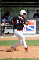 Mailon Arroyo participates in the Dominican Prospect League 2014 Louisville Slugger Tournament at the New York Yankees academy in Boca Chica, Dominican Republic on January 20-21, 2014 (Bill Mitchell)