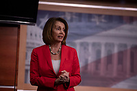 House Democratic Leader Nancy Pelosi, Democrat of California, speaks with reporters during her weekly press conference on Capitol Hill in Washington, DC on June 7, 2018. <br /> CAP/MPI/RS<br /> &copy;RS/MPI/Capital Pictures