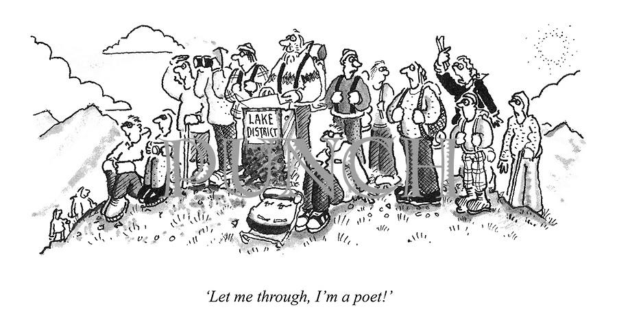 'Let me through, I'm a poet!'