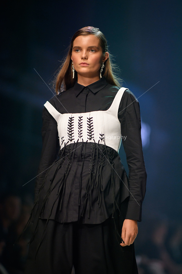 6 March 2018, Melbourne - Models showcase designs by Acler during the Runway 2 show presented by Elle Magazine at the 2018 Virgin Australia Melbourne Fashion Festival in Melbourne, Australia. (Photo Sydney Low / asteriskimages.com)