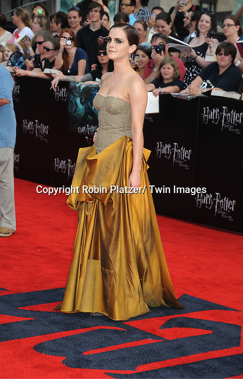 "Emma Watson arriving to the"" Harry Potter and the Deathly Hallows- Part 2""  North American Premiere on July 11, 2011 at Avery Fisher Hall in Lincoln Center in New York City."