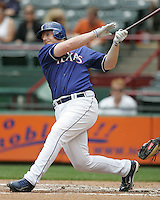 Texas Rangers 1B Chris Shelton against the Seattle Mariners on May 14th, 2008 at Texas Rangers Ball Park in Arlington, Texas. Photo by Andrew Woolley .