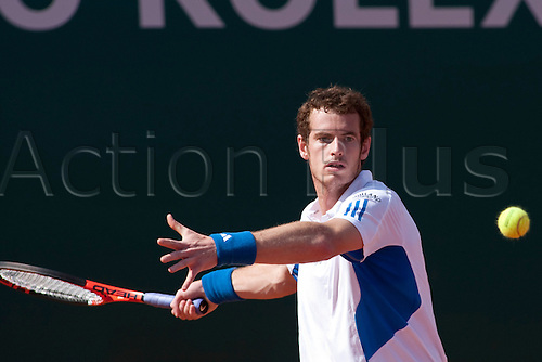 MONTE CARLO, MONACO. 14/04/2010 Andy Murray (GBR) in action during the second round at the ATP Monte Carlo Masters tennis tournament held in the Monte Carlo Country Club, Monaco, between from the 12th to the 18th April. .