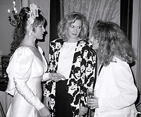 ***FILE PHOTO*** Margot Kidder has passed away at 69****<br /> Margot Kidder, Kathleen Turner and Carol Kane attending 'Common Performance Benefit' on April 28, 1986 at the St. Regis Hotel in New York City. <br /> CAP/MPI/WAL<br /> &copy;WAL/MPI/Capital Pictures