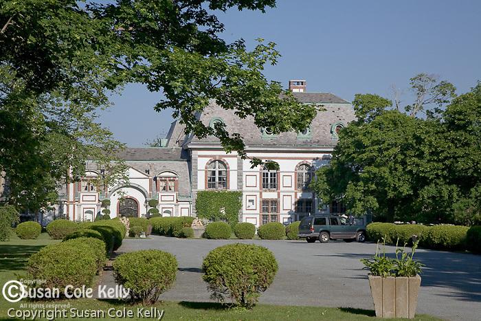 Belcourt Castle mansion in winter,  Newport, RI