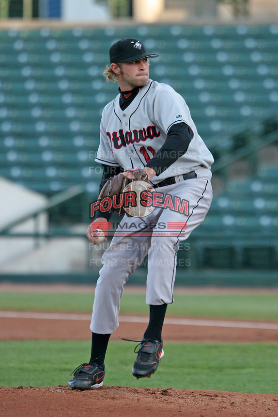 Ottawa Lynxx Hayden Penn during an International League game at Frontier Field on May 3, 2006 in Rochester, New York.  (Mike Janes/Four Seam Images)