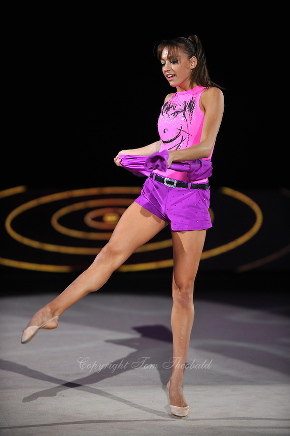 September 13, 2009; Mie, Japan;  Evgeniya Kanaeva of Russia performs gala exhibition at 2009 World Championships Mie. Evgeniya became world champion at Mie and was the 2008 gold individual medalist in rhythmic gymnastics at the Beijing Olympics. Photo by Tom Theobald..