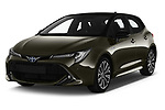 2019 Toyota Corolla Style 5 Door Hatchback angular front stock photos of front three quarter view